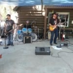 band playing on the patio