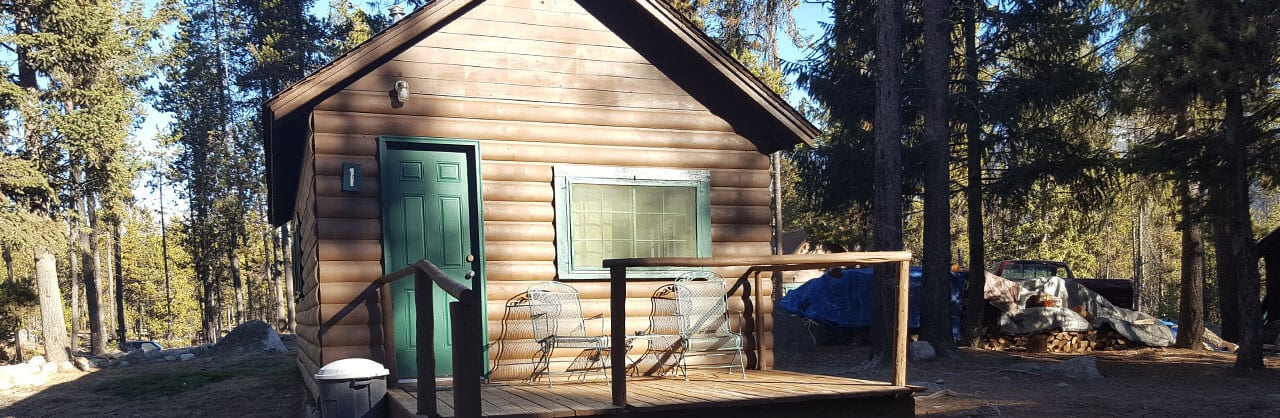cabin 1 patio