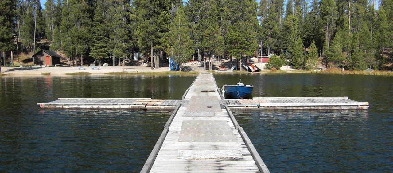 warm lake pier