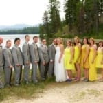 Jonely Wedding Party near lake